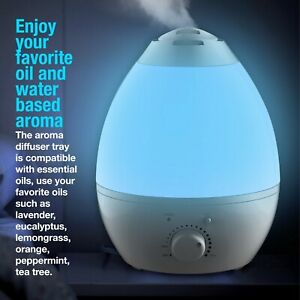 Bell + Howell XXL Ultrasonic Color Changing Humidifier & Aroma Diffuser- 1 Gal