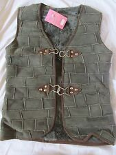 New Women's Mouton Lamb Apni Fur Vest/Suede Leather Olive Green Greece Small