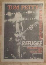 TOM PETTY HEARTBREAKERS Refuge 1982 EDICIÓN anuncio completo Páginas 27 x 38cm