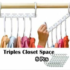 8 Pc Space Saver Wonder Magic Hanger Racks Hook Closet Organizer