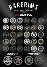 NEW Official Rarerims A1 Size Poster Rota Wheels Christmas Birthday Present