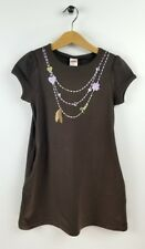 """GYMBOREE """"Cowgirls at Heart"""" Brown w/ Charm Necklace Dress size 6"""