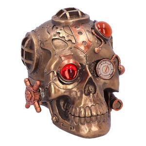 Nemesis Now Steampunk Under Pressure Modified Skull Ornament/Figurine 14.8cm