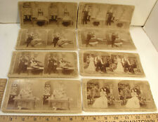 New listing UNDERWOOD STEREOVIEW PARTIAL SET MR & MRS NEWLYWED NEW FRENCH COOK RISQUE COMIC