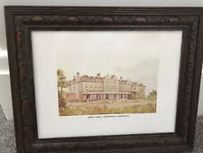 old carved oak picture frame with springfield hospital horsforth (mens home)