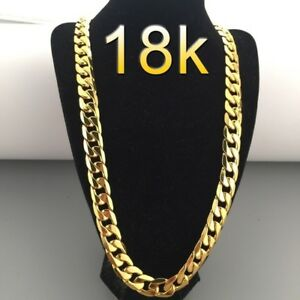 Luxury  18K Gold Plated 6mm Men's Chain Necklace....
