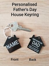 $3.80!! Personalised Father's Day Gift, HOUSE keyring, FREE Laser Engrave & Post