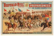 Buffalo Bill Cody Military Pageant, Cowboys, Indian, Horse etc - Modern Postcard