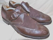 'Keeffe Elegante Marrón Oscuro O welted Monje Correa Zapatos Reino Unido 8.5 F EU 42.5
