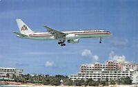 AMERICAN AIRLINES Boeing B-757-223 N645AA MSN 24603  Airplane Postcard