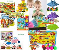 Kids Dough Doh Moulding Modelling Play Set Tubs Clay Rolling Pin Cutters Moulds
