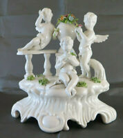 STATUINA DI PORCELLANA DI BASSANO FIGURINA GRUPPO FIGURE PUTTI ANGELI PS8
