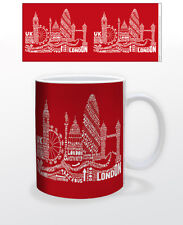 CITOGRAPHY LONDON RED 11 OZ COFFEE MUG TEA CUP UK BUS CARNABY CHELSEA SOHO ROAD!
