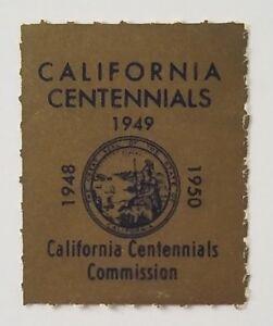 Poster Stamp Cinderella California Centennials Commission