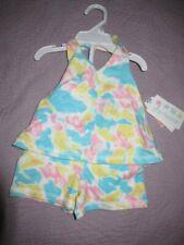 nwt mini wear abstract pastel halter top short set baby girl 0 m 3 m
