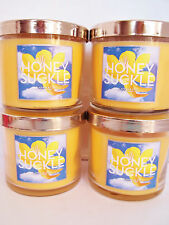 Bath Body Works Slatkin HONEYSUCKLE Candles, single wick, 4 oz., NEW x 4