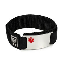 Sport Medical Alert ID Bracelet. Free emergency wallet Card! Free engraving!