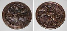 Medaille aus Messing Zum neuen Jahre 1854 die Gebrueder W. & A. Wolff Jagdmotive