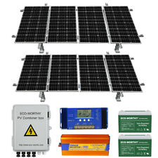 ECO-WORTHY 400W 800W Watt 24V Solar Panel Kit For Home Cabin Shed Battery Charge