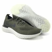 Nike Mens Epic React Flyknit Cargo Khaki Black Trainer Running Shoes Size 12