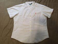 Men's Polo Ralph Lauren Seersucker  Short Sleeve Button Up Down Shirt 2XL XXL