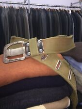 G STAR RAW BELT FABRIC WITH SILVER BUCKLE 38