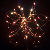 Sunset Micro Battery Lights (40 LED) on Copper Wire with Timer by Qbis Official