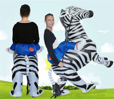 Inflatable Zebra Animal Fancy Halloween Costume Dress Outfit Suit Party Game