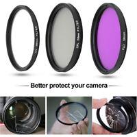 Kit de Filtre Objectif UV Polarisant Circulaire 58mm FLD CPL Pour Nikon Canon