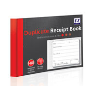 DUPLICATE COPY CASH & PAYMENT RECEIPT RECORD BOOKS NUMBERED 1-80 160 PAGES REB/2