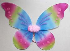 "18""x19"" Kids Adults Rainbow SPARKLE Fairy WINGS Tinkerbell ANGEL Costume"