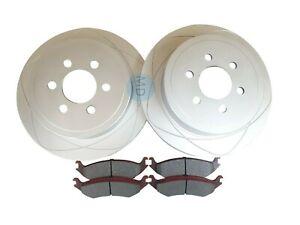 2 REAR 317mm Disc Brake Rotors + Ceramic Brake Pads Fits Dodge Durango 2003