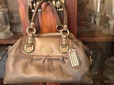 Coach Ashley Leather Satchel Shoulder Bag Handbag Bronze Metallic EUC F15445