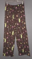 Hue Sleepwear Brown Multi-color Martini Print Lounge Sleep Pants $36  NWT Medium