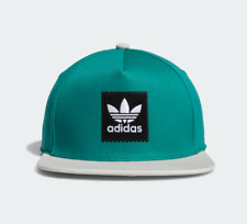 ADIDAS SKATEBOARDING TWO-TONE TREFOIL SNAPBACK CAP ACTIVE GREEN / RAW WHITE