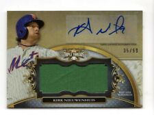 KIRK NIEUWENHUIS MLB 2013 TOPPS TRIPLE THREADS UNITY RELIC AUTO (METS,BREWERS)