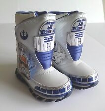 STAR WARS R2D2 TODDLER BOYS LIGHT UP BOOTS SIZE 8 NEW IN BOX