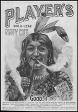 1896 ADVERTISING Players Gold-Leaf Navy Cut Cigarettes Red Indian (81)