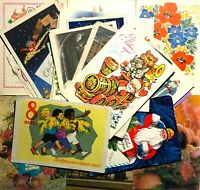 1950-80s Postcards posted 38 pcs Vintage Various Greeting Cards Mixed Lot