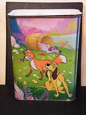 Baril de Lessive en Tôle Coral Rox et Roucky Walt Disney