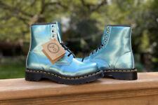 Doc Martens Vegan 1460 Air Wair Metallic Blue Boots Women's Size 7 NWT
