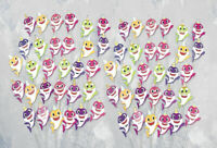 60pc Baby Shark Family Cupcake Toppers for Kids Birthday Party Supplies - USA