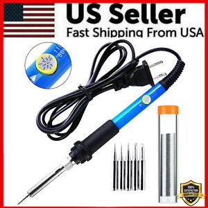 60W Soldering Iron Digital LCD Electric Welding Tools Solder Wire Tweezers Hand