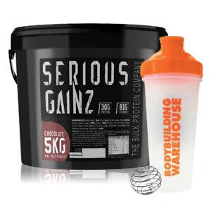 TBPC Serious Gainz Mass Gainer Protein Powder 5kg + FREE BW Shaker 700ml