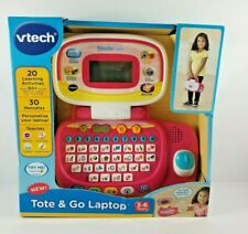 New Vtech Tote And Go Laptop Computer Kids Toddler Learning Games Education Pink