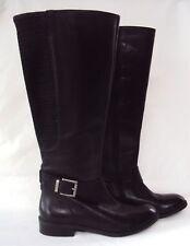 ce6fd0307ef5 NEW Wmn s Clarks Black Leather Pita Arizona Tall Wide Calf Flat Fashion Boot  7