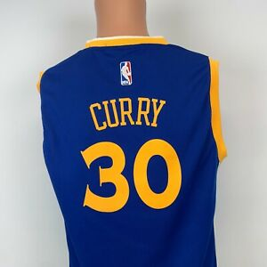 Adidas Steph Curry Golden State Warriors Replica Jersey NBA Basketball Youth L