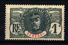 SENEGAL - 1906 - Senegal in rosso su blu. Leggere Pieghe -