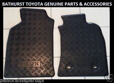 TOYOTA HILUX RUBBER FLOOR MATS FRONT PAIR JULY 2011- JUNE 2015 ALL GENUINE