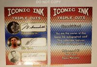 Iconic Ink Muhammad Ali, Mike Tyson, Marciano Autograph Trading Card. Facs Autos